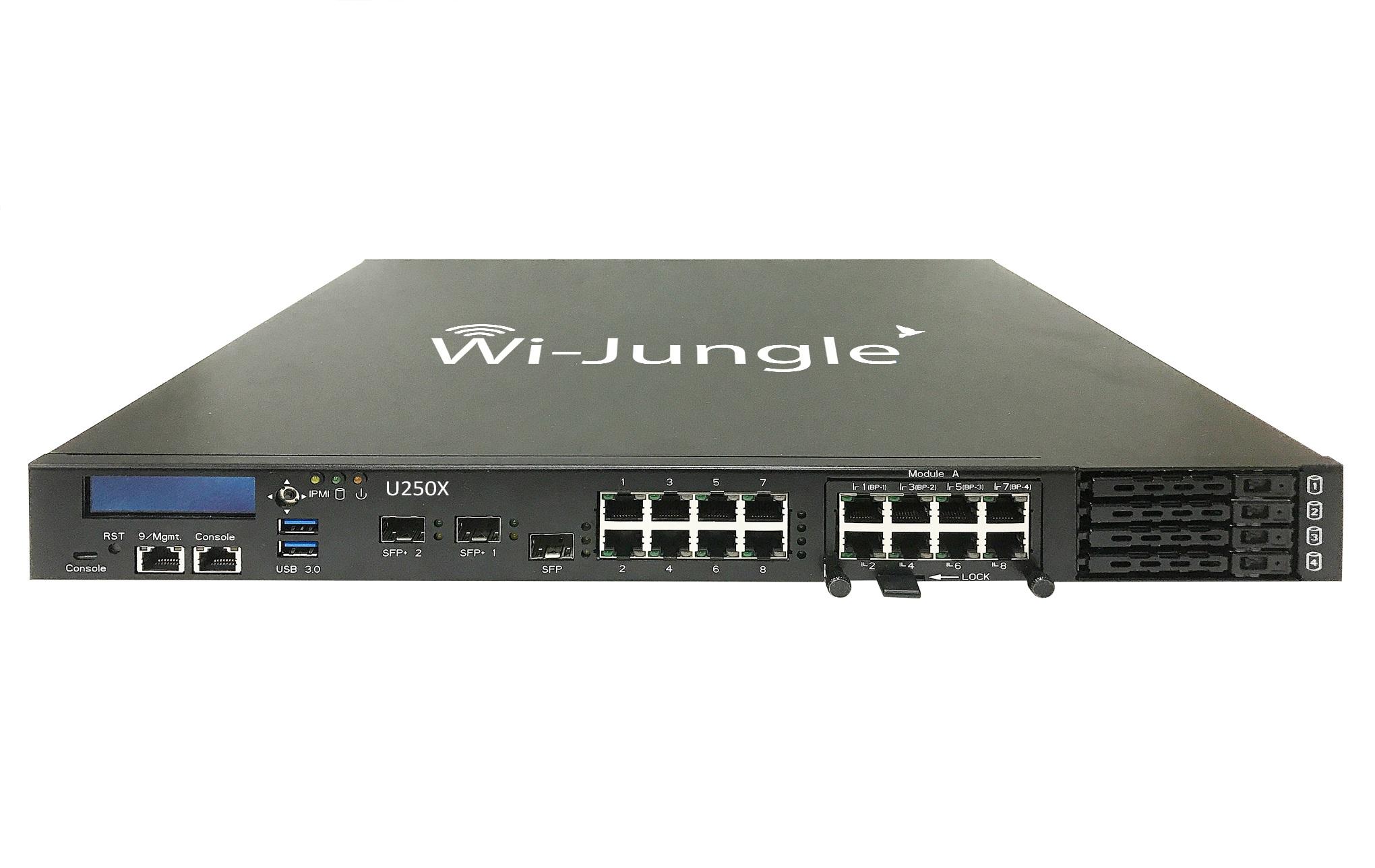 WiJungle U250X (NextGen Firewall/UTM + Web Application Firewall + Hotspot Gateway + Load Balancer Router + VPN Router) With 3 Years License
